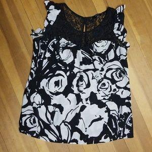 Express size Med silk sleeveless blouse